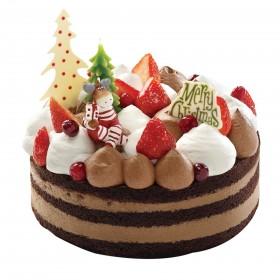 Торт  на Новый год девочка в зимнем лесу