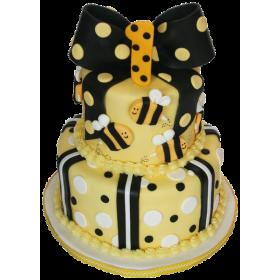 Детский торт на годик с пчёлками