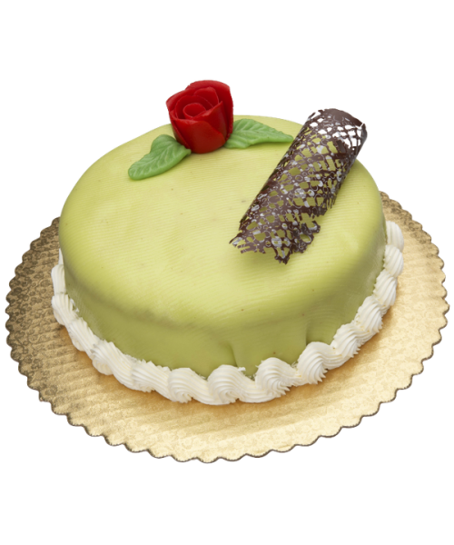 Торт праздничный украшенный розой