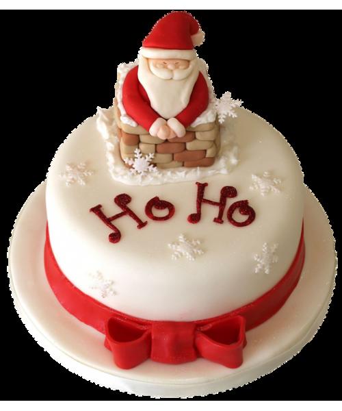 Торт на Новый год Санта Клаус