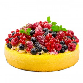 Торт праздничный бисквитный ягодное ассорти