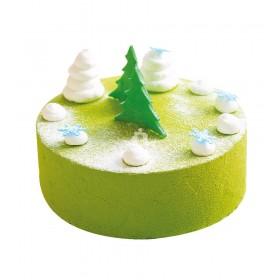 Торт на Новый год  светло-зеленый с ёлочкой