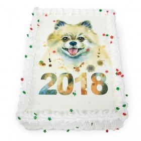 Торт на Новый год  с фотопечатью символа года