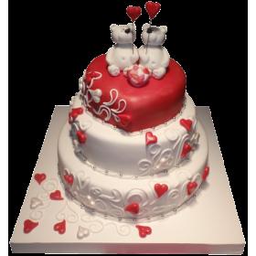 Торт влюбленные Мишки
