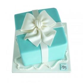 Детский торт в виде подарочной коробки