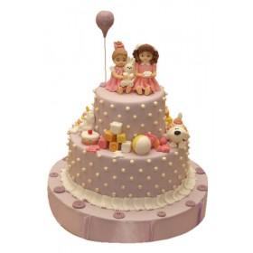 Детский торт принцессы с собачкой