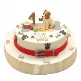 Детский торт с собачкой на годик